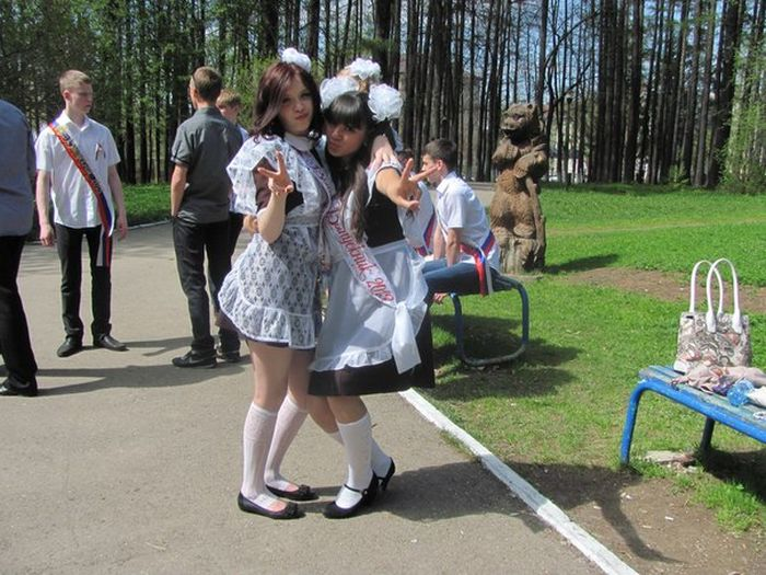 Выпускницы на последнем звонке 2013 (89 фото)