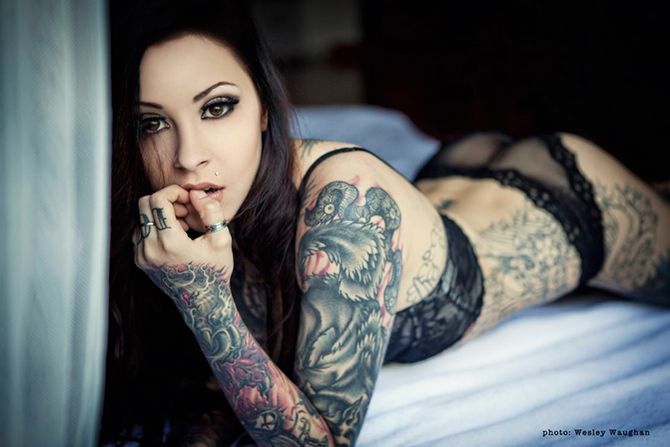 Сексуальные татуировки на девушках.