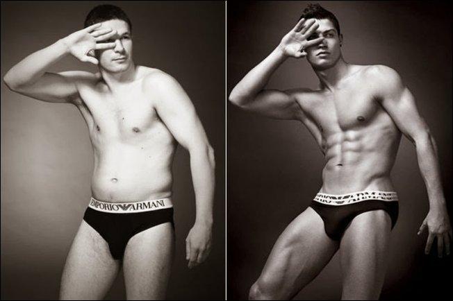 Обычные мужчины в рекламе нижнего белья (5 фото)