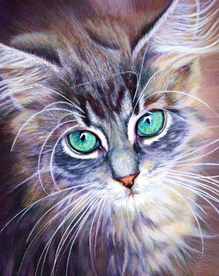картинки цветными карандашами рисунки
