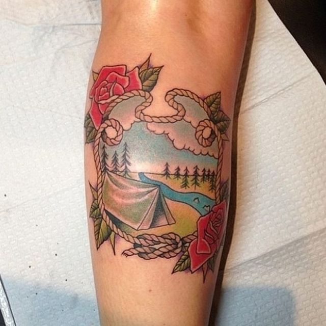 Татуировки на тему путешествий 46 фото