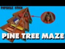 Making Pine Tree Maze Race From Cardboard